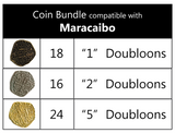 Coin Bundle Compatible with Maracaibo™ (set of 58)