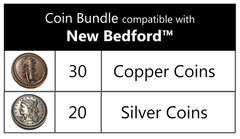 Coin bundle compatible with New Bedford™ (set of 50 )