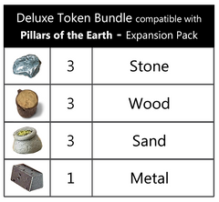 Deluxe Token Bundle compatible with The Pillars of the Earth™ Expansion Pack (set of 10)