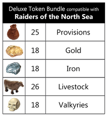 Deluxe Token Bundle compatible with Raiders of the North Sea™ (set of 105)