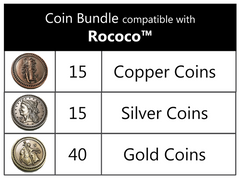 Coin bundle compatible with Rococo™ (set of 70)