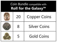 Coin bundle compatible with Roll for the Galaxy™ (set of 33 )