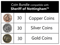 Coin Bundle Compatible with Sheriff of Nottingham™ (set of 90)