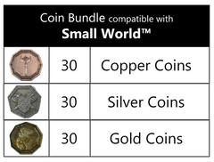Coin bundle compatible with Small World™ (set of 90 )
