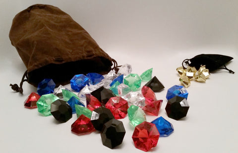 Bag of Gems compatible with Splendor (set of 7)