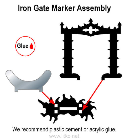 Arkham Horror®: Cthulhu Iron Gate Markers (set of 6)