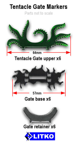 Arkham Horror: Cthulhu Tentacle Gate Markers (set of 6)