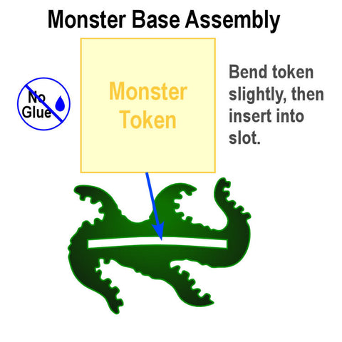 Arkham Horror®: Monster Bases (Transparent Green) (set of 8)