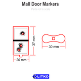 Mall Door Markers (5) [clearance]