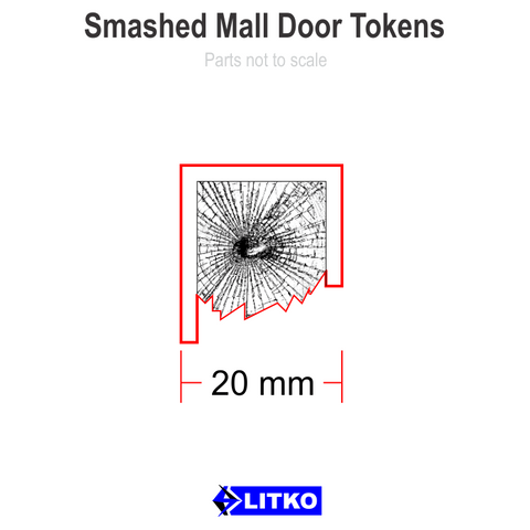 Smashed Mall Door Tokens (10) [clearance]