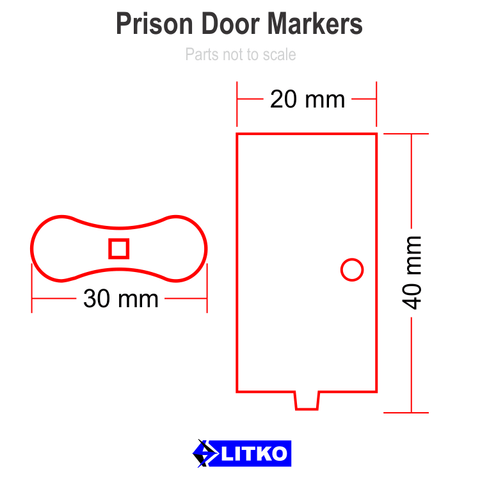 Prison Door Marker Set (5)