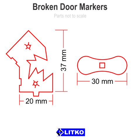 Broken Door Markers, Objective Set (5) [clearance]