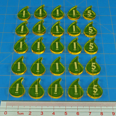Dungeon Fatigue Tokens, Transparent Yellow (30)
