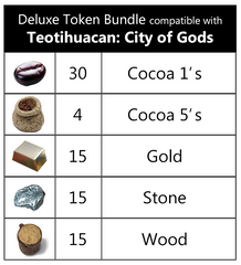 Teotihuacan™ compatible Deluxe Token Bundle (set of 79)