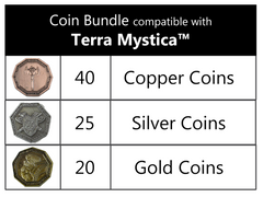 Coin bundle compatible with Terra Mystica™ (set of 85 )