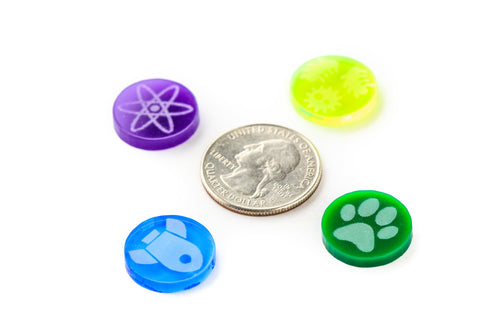 Acrylic Resource Tokens compatible with Terraforming Mars™ (set of 56)