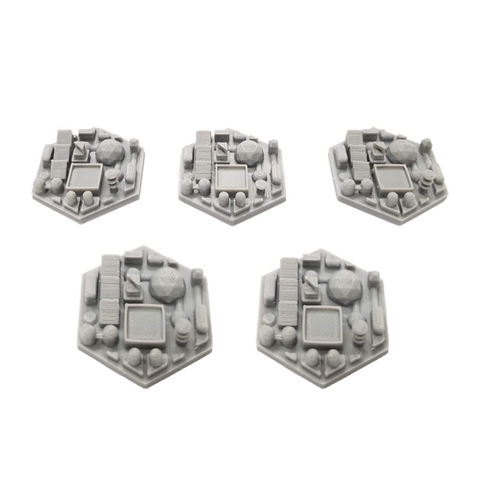 3D City Hex Tiles Booster Pack (set of 5)