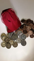 Valkyrie Coin Set in a Burgundy Bag (set of 50) - Top Shelf Gamer - 1