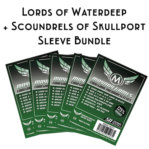 Card Sleeve Bundle: Lords of Waterdeep + Scoundrels of Skullport