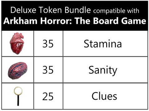 Deluxe Token Bundle compatible with Arkham Horror®: The Board Game