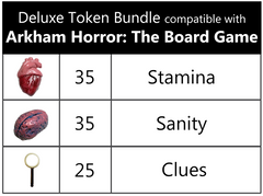 Deluxe Token Bundle compatible with Arkham Horror: The Board Game