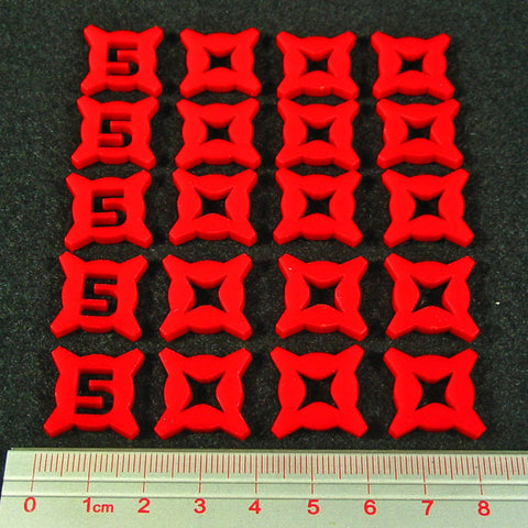 Damage Token Set, Red (set of 20)