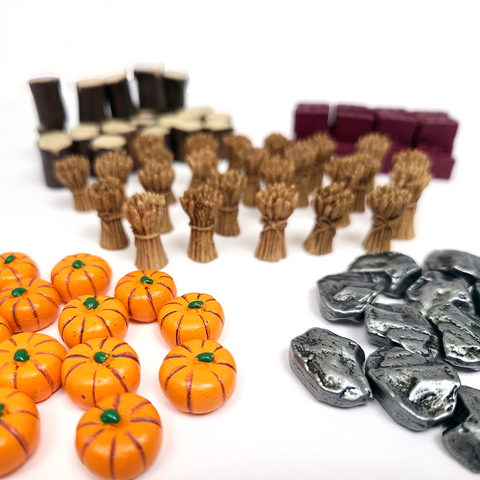 Agricola™  compatible Deluxe Resource Tokens (set of 105)