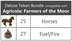 Deluxe Token Bundle compatible with Agricola: Farmers of the Moor - Top Shelf Gamer