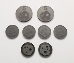 Acrylic Resource Tokens compatible with Terraforming Mars™ Asteroids (set of 8)
