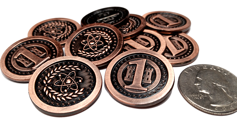 Top Shelf Gamer | Atomic Copper Coins (set of 10)