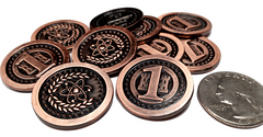 Atomic Copper Coins (set of 10)