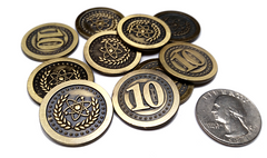 Atomic Gold Coins (set of 10)