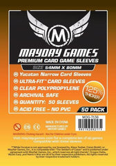 PREMIUM Mayday Yucatan Narrow Sleeves: 54 x 80mm (set of 50) - Top Shelf Gamer