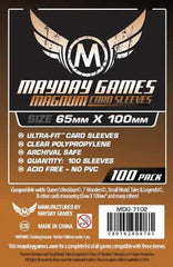 Mayday Clear Magnum Sleeves: 65 x 100mm (set of 100) - Top Shelf Gamer