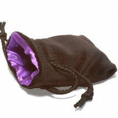 "Dice Bag Large 5""X8"" Velvet Black and Purple - Top Shelf Gamer"