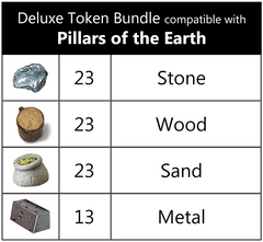 The Pillars of the Earth™ compatible Deluxe Token Bundle (set of 82)