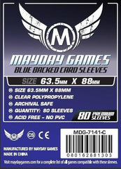 PREMIUM Mayday 63.5 x 88mm Blue Backed Card Sleeves (set of 80) - Top Shelf Gamer