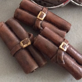 Leather Scroll Tokens (set of 10)