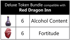 The Red Dragon Inn™ compatible Deluxe Token Bundle (set of 12)