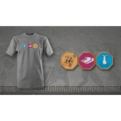 Gray 7 Wonders Resource T-Shirt - Top Shelf Gamer