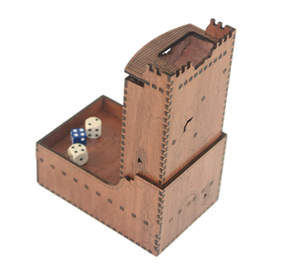 Wooden Castle Dice Tower