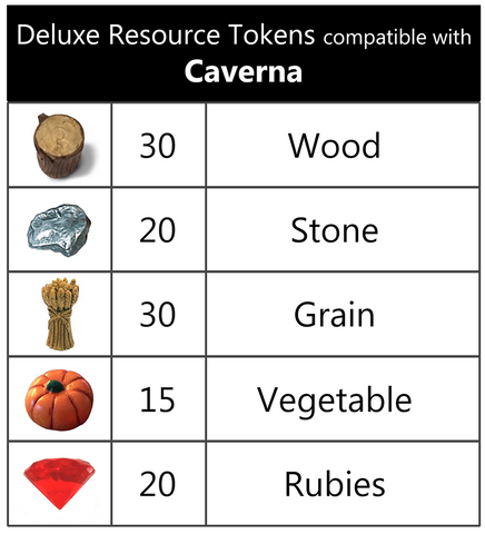 Deluxe Resource Tokens compatible with Caverna™