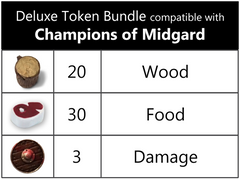 Champions of Midgard™ compatible Deluxe Token Bundle (set of 53)