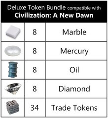 Deluxe Token Bundle compatible with Sid Meier's Civilization: A New Dawn™ (set of 66)