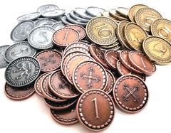 Metal Coins for Clans of Caledonia