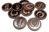 Colonial Coins Set in Burgundy Bag (set of 50)