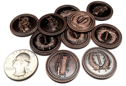 Colonial Copper Coins (set of 10)