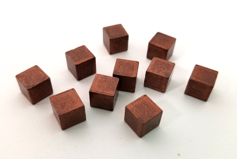 Copper Metal Cubes (set of 10)