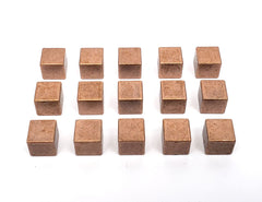 Copper Metal Cubes (set of 15)