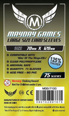 Mayday Large Card Sleeves: 70 x 120mm (set of 75) - Top Shelf Gamer